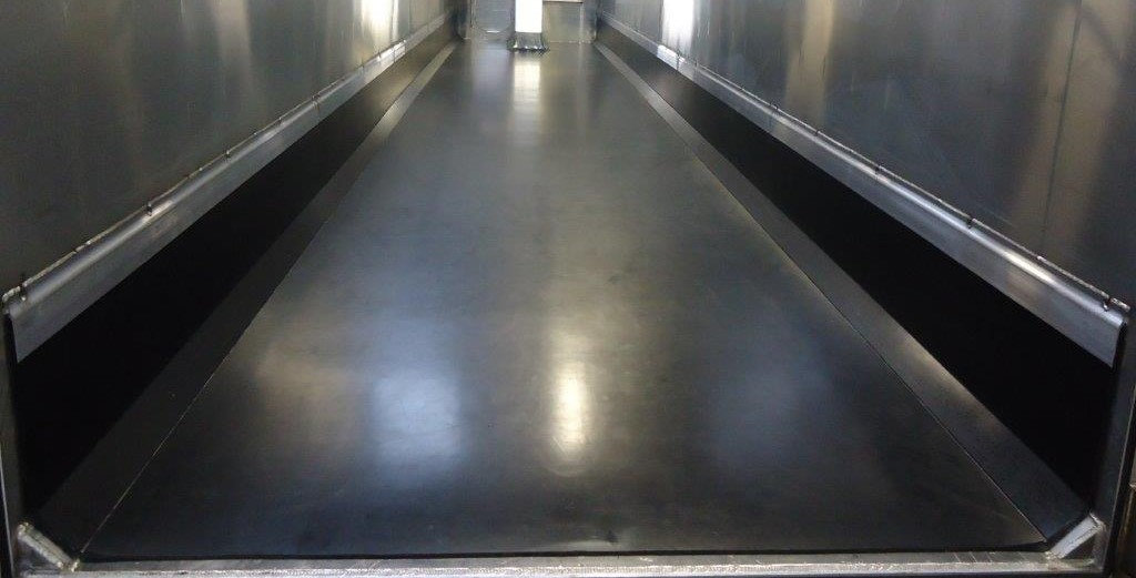 photo of a black rectangular truck bed liner